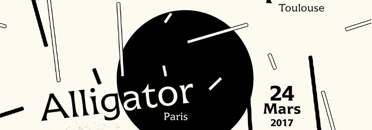 Affiche pour la soirée Olympique Souterraine : Marie mathématique + Alligator + Lemon Swell